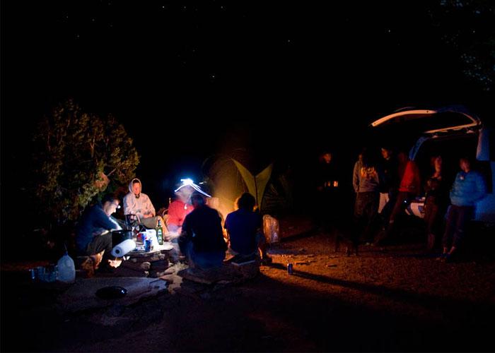 Ambiente nocturno en el campground