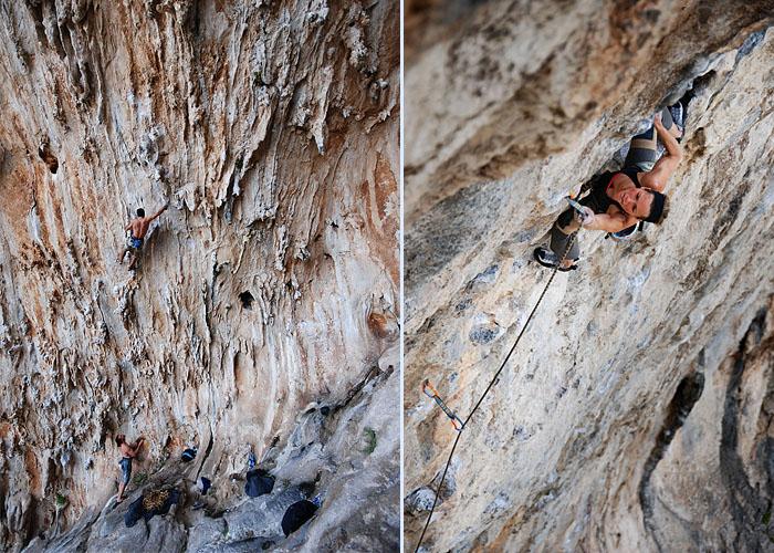 Mas chorreras en la Grande Grotta / Catherine Vaillancourt en Indi Raymi.