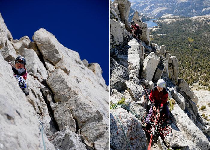 Eichorn's Pinacle, en los Cathedral Peaks, y basta de alpinismo