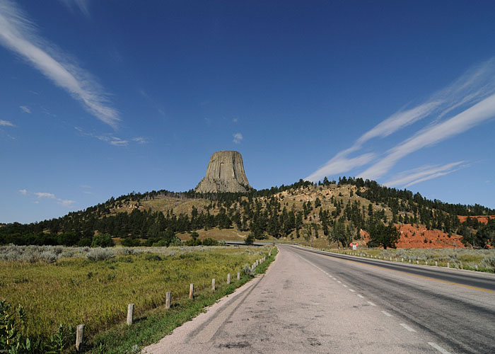 Devil's Tower a la vista...