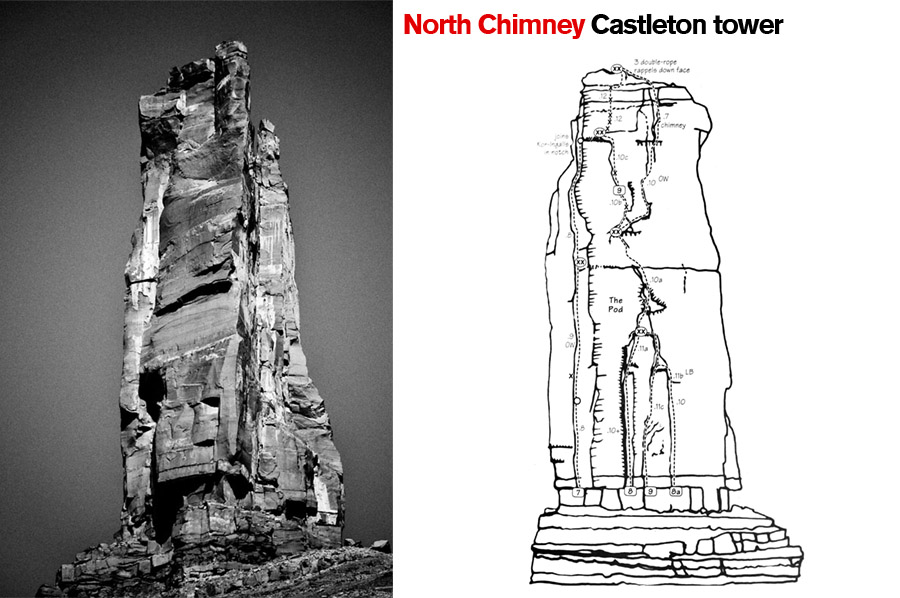 North Chimney, Castleton Tower. Castle Valley