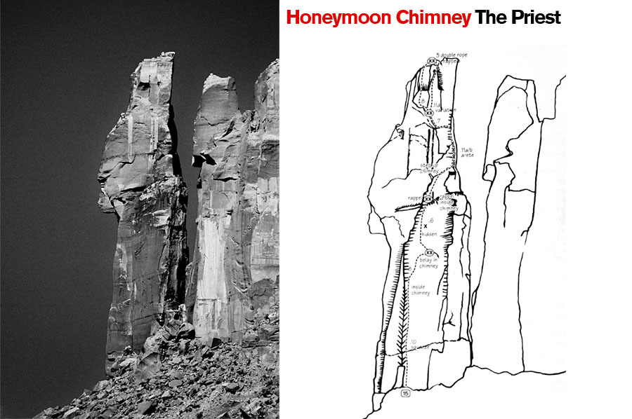 Honeymoon Chimney, The Priest. Castle Valley