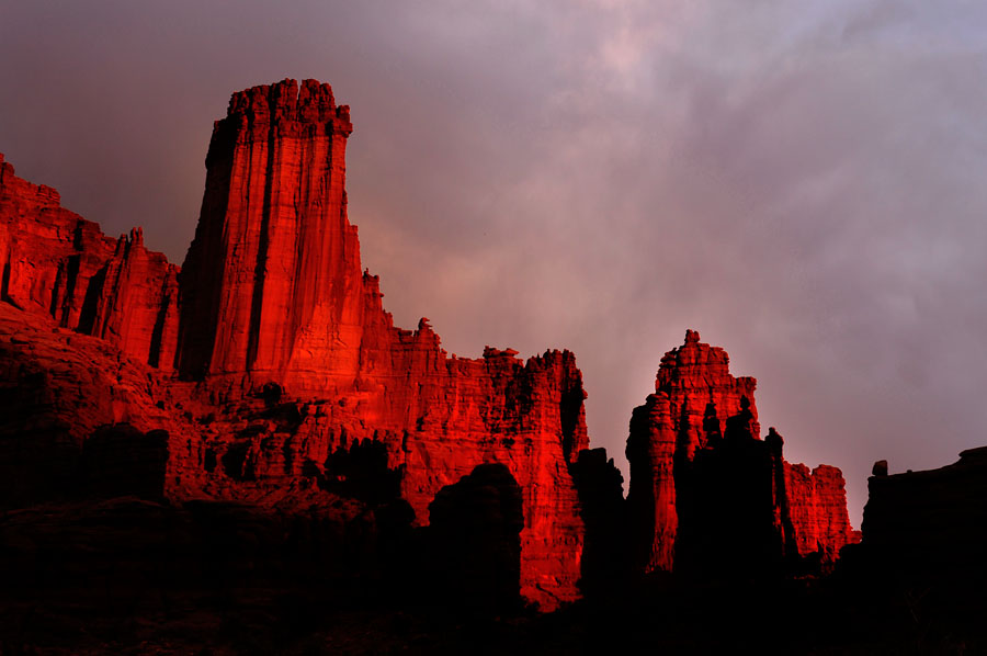 Atardecer en las Fisher Towers