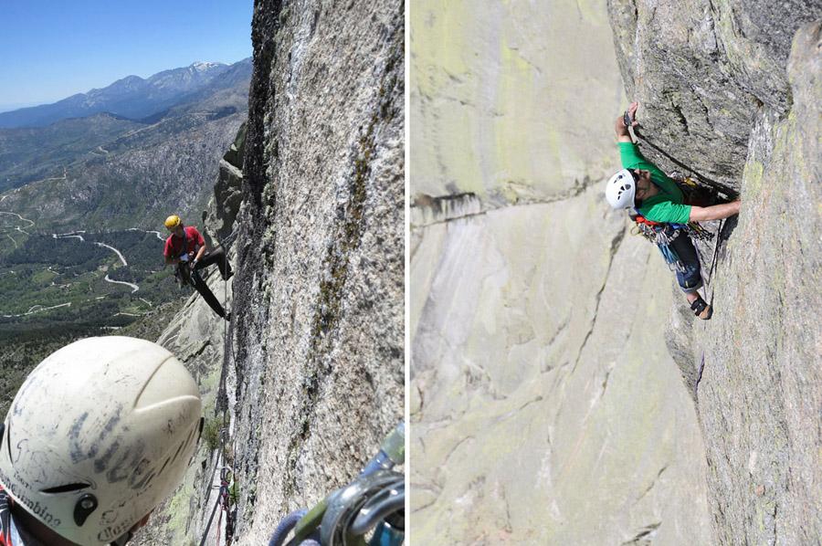 Péndulos y diedros a más de 1000 Km de Yosemite